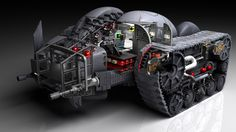 cutaway bat-tank front view