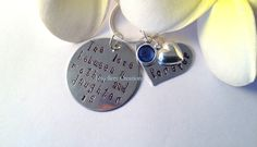 Mother and Daughter Silver Necklace by JewelleryCreations01 on Etsy