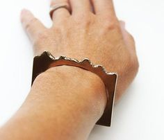Bronze Mountain Cuff - This cuff depicts a mountain range. Now you can say you've moved mountains