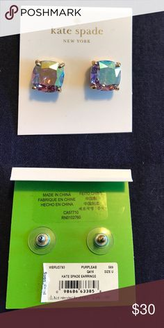 Kate Spade earrings New never worn! I received these as a Christmas present but already have the same pair!! New! Will ship with Kate spade jewelry cloth pouch too kate spade Jewelry Earrings