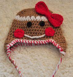 Gingerbread crochet hat
