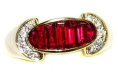 18K Yellow Gold For Men Ruby Gemstone Diamond Ring [RQ0018] BKGjewelry http://www.amazon.com/dp/B00BRJ176E/ref=cm_sw_r_pi_dp_Vlpqwb1C9F976