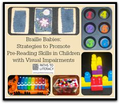 Lots of great ideas for helping young children to develop pre-braille skills