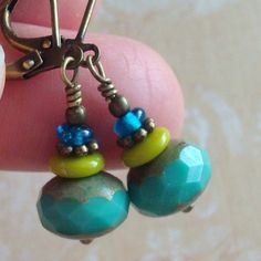 I have the big beads.  Can I remake these in my own style?  earrings by CloudCap Jewelry on Etsy
