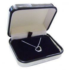 Engraved Box with Heart Necklace - Sterling Silver from Personalised Gifts Shop - ONLY Engraved Gifts, Engraved Jewelry, Engraved Necklace, Personalized Gifts, Confirmation Gifts, Baptism Gifts, Christening Gifts, Online Gift Shop, Online Gifts