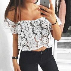 The #nice #whitelace #top by @nakdfashion  #crochettop #outfit  #nakdfashion #crochet #summertime #summerdress #modafeminina #топ #moda #white #summerfashion #ss16 #pizzo #bianco #белая #блузка #fashionstyle #fashionlook #trendy #elegant #blusa #blusas #bianca #womensfashion #musthave by fashionfusionstyle