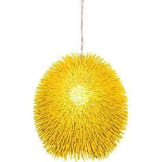 yellow hanging lamp -