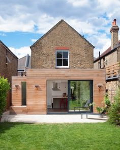 Semi detached house extension ideas exterior contemporary with exterior lights wood cladding exterior cladding