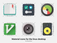 practicing on material icons for the linux desktop – Icon(s) by Alexandros