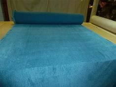 Job-Lot-10m-rolls-of-TEAL-BLUE-Jumbo-Cord-Upholstery-Fabric-WAVY-STYLE