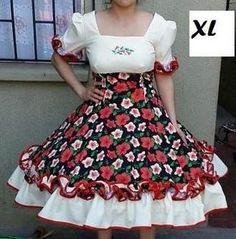 vestidos de cueca chilena blancos - Buscar con Google Dance Outfits, Frocks, High Waisted Skirt, Ideias Fashion, Floral, Womens Fashion, Skirts, Clothes, Beauty