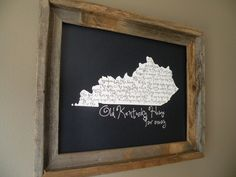 Just purchased this! My Old Kentucky Home 11x14 Dark Blue Map Print by fortheloveofmaps, $22.00