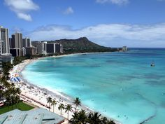 The best Waikiki Beach view from Deluxe Ocean Front Room of Sheraton Waikiki - Oahu Hawaii