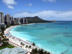 The best Waikiki Beach view from Deluxe Ocean Front Room of Sheraton Waikiki - Oahu Hawaii