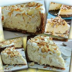 Bolo de Chocolate branco & Licor de Amendoas( Chocolate branco & Almond Amaretto Cheesecake) Para a crosta: 2 1/2 xícara de migalhas de biscoito de Graham-opção:maizena/maria- (cerca de 2 sacos de uma caixa) 1/4 xícara de amêndoas picadas planície, muito bem no processador de alimentos 1/4 de xícara de açúcar De manteiga sem sal 1/2 xícara, derretida 1 colher de sopa.(licor de amendoas) ou prontos os  Amaretto(veja receita a seguir no proximo quadro)