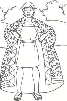 I had to pin this for editing purposes for later... lol!! - Joseph's Coat of many colors coloring sheet