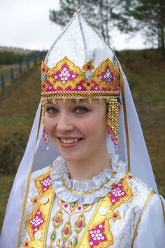 Tatar Beauty in Traditional Clothing of Tatarstan. The Country inside of Russia