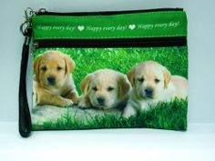Dog Puppy Pet Golden Retriever Makeup Cosmetic Case Bag Purse BAG182 NEW