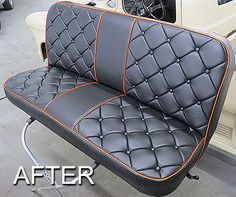 New fun stuff Kombi Interior, Custom Car Interior, Car Interior Upholstery, Automotive Upholstery, Hot Rod Trucks, Old Trucks, Ford 79, Corsa Wind, Leather Bench Seat