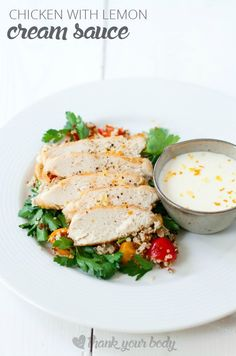 Chicken with Lemon Cream Sauce - so easy. So good.   Photography by Jennifer Leung Johnson