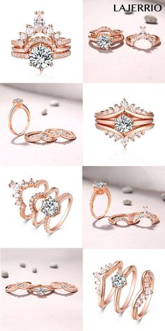 Lajerrio rose gold promise rings for her bridal sets style 501001 & 501000 fashion Cheap Promise Rings, Matching Promise Rings, Rose Gold Promise Ring, Promise Rings For Her, Gold Ring Pic, Pink Ring, Silver Ring, Wedding Bands For Her, Cheap Wedding Rings