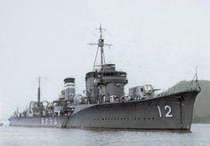 叢雲: Japanese destroyer Murakumo of the Fubuki-class (Group I). World Of Warships, Son Of Neptune, Heavy Cruiser, Imperial Japanese Navy, Ship Of The Line, Navy Ships, Submarines, Aircraft Carrier, Model Ships