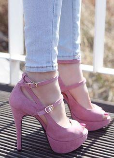 shoes - http://zzkko.com/n211043-uropean-and-American-super-high-heels-shoes,-fish-head-sandals-shoes-platform-shoes-waterproof-fish-head-stiletto-heels.html $20.54