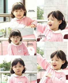 Little Kim Yoo Jung. She is so adorable! She still looks the same now she's all grown up.