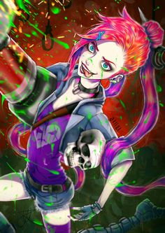 Jinx,the Loose Cannon,League of Legends,Лига Легенд,фэндомы