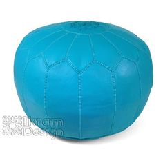 Ikram Design - Turquoise Moroccan Leather Pouf, $161.12 (http://www.ikramdesign.com/turquoise-moroccan-leather-pouf/)