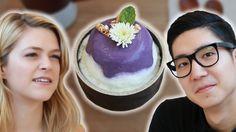 We Tried Korean Purple Desserts - YouTube