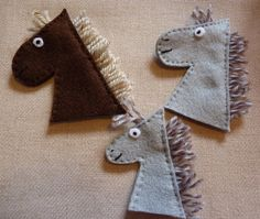 Set of Felt Horse Finger Puppets by CleverleyCrafted on Etsy, £8.00