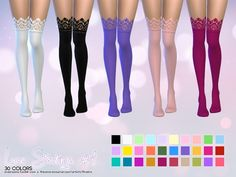 Sims 4 CC's - The Best: Stockings by Aveira
