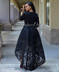 Chic Couture Online - Marciano Black Embroidered High-Low Gown, $200.00 (http://www.chiccoutureonline.com/marciano-black-embroidered-high-low-gown/)