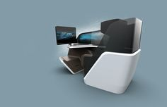 At Aircraft Interiors Expo 2014 in Hamburg Thales, the world renowned in-flight Entertainment & Connectivity, revealed the innovative immersive Business Class Seat, designed in collaboration with BMW Design Works and B/E Aerospace. Airplane Interior, Airplane Design, Airplane Seats, Bmw Design, Aircraft Interiors, Car Interiors, Aircraft Design, Business Class, Industrial Design