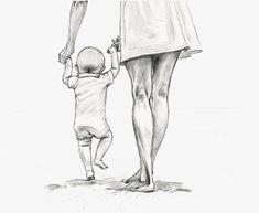 Gjennomsiktig mor som holder et barn som holder håndtegnet PNG-skisse. Art Drawings Sketches Simple, Pencil Art Drawings, Cute Drawings, Mother Daughter Art, Mother Art, Father Daughter Photos, Mutterschaft Tattoos, Mother Clipart, Clipart Baby