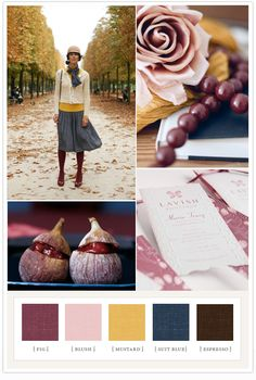 beautiful fall color palette