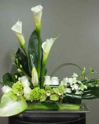 Flower Arrangement for urn 1511-1 Florist Montreal Abaca
