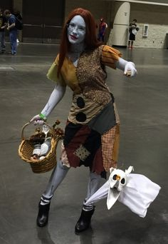 Steampunk Sally and Zero - Nightmare Before Christmas