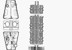 PLUG - IN CITY // Archigram Contemporary Architecture, Architecture Design, Anatomy Sculpture, Architectural Section, Planer, Plugs, Peter Cook, City, Thesis