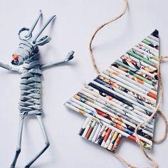 Na blogu pojawił się nowy wpis!  Mały poradnik o tym jak zrobić płaskie choinki z papierowej wikliny  można je wykorzystać jako zawieszki albo zrobić z nich girlandę (ps. o girlandzie wpis pojawi się już wkrótce). A Pan Renifer bardzo chciał być na zdjęciu  #białamorela #domowapracownia #namiarę #nowywpis #papierowachoinka #choinkazpapierowejwikliny #ozdobyświąteczne #dekoracjeswiateczne #wickerpaper #wiklinapapierowa #renifer #reindeer #paperreindeer