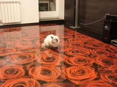 #Unusual #InteriorDesign, #Photography: Photorealistic 3D Illusion Flooring.