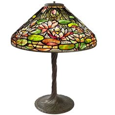 """Tiffany Studios New York """"Flowering Water Lily"""" Table Lamp 