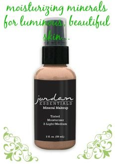 Jordan Essentials knows natural beauty and we have an incredible tinted moisturizer with natural minerals & SPF, all while providing a healthy light coverage. This is shown in Light/Medium for $20
