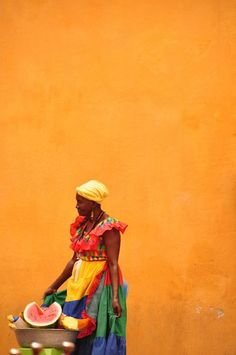 Love this shade of Orange and the contrasting colors!