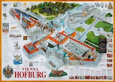 map of the Hofburg palace Fantasy City, Fantasy Map, Heart Of Europe, Imperial Palace, Future House, Austria, American History, Places Ive Been, Floor Plans