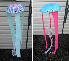 Kid's Craft: Paper Plate Jelly Fish - Crafts Unleashed