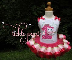 Sitting Pretty Owl Birthday Outfit- Pinks- Includes embroidered top and ruffled tutu-  Can be made to match your party colors by TicklePants on Etsy https://www.etsy.com/listing/208359179/sitting-pretty-owl-birthday-outfit-pinks