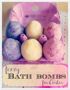Home made Easter egg bath bombs - a CHEAP and FUN alternative to chocolate