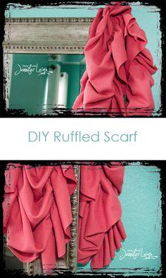 diy ruffled scarf